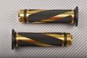 Coppia di manopole in Alluminio / Gomma  22 / 24mm NEW DESIGN