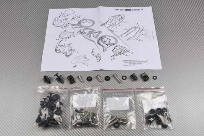 Complete Fairings Fastening Hardware Set HONDA