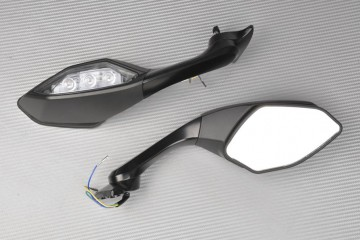 Pair of Aftermarket Rearview Mirrors with Integrated Turn Signals YAMAHA R1 2015 / 2019