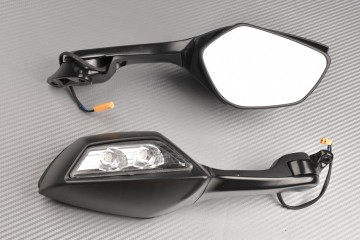 Pair of Aftermarket Rearview Mirrors with Integrated Turn Signals KAWASAKI ZX10R 2014 / 2015