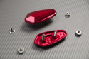 Tapas orificios retrovisores de aluminio anodizado YAMAHA KAWASAKI SUZUKI