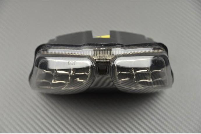 NBX con indicatori di direzione integrati per GSXR 600 750//2008-2013 GSXR 1000 2008-2013 Fanale posteriore a LED trasparente per moto