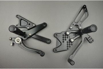 Pedane arretrate regolabili per Suzuki Bandit 650 1250 07 / 15 & GSXF 650 1250