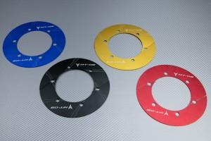 Transmission belt cover in anodised aluminum YAMAHA MT03 2006 - 2020