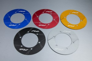 Transmission belt cover in anodised aluminum YAMAHA R6 2003 - 2020