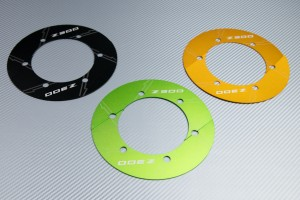 Transmission belt cover in anodised aluminum KAWASAKI Z300