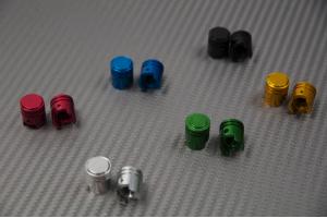 Pareja de tapas para válvulas de llanta universales y anodizadas