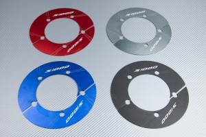 Transmission belt cover in anodised aluminum BMW S1000 R / RR / XR