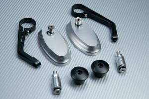 Coppia di retrovisori distanziali per estremità manubrio - Design classico