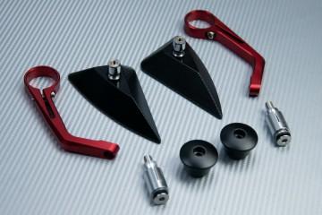 Coppia specchi retrovisori a estremità manubrio Design triangolo