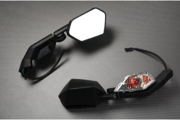 Paar Verstellbarer Rückspiegel mit Blinker Kawasaki ZX10R 08 / 10