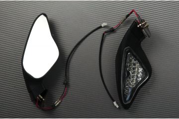 Pair of Aftermarket Rearview Mirrors with Integrated Turn Signals for DUCATI 848 1098 1198