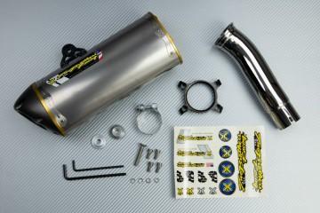 Slip On Exhaust SUZUKI GSXR 600 / 750 2008 - 2010 TWO BROTHERS Titanium  / Magnesium