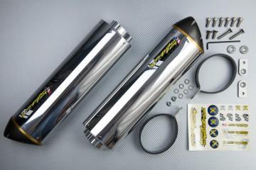 Escape TWO BROTHERS Aluminio / magnesio SUZUKI GSXR 1000 2007 - 2008