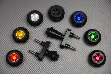 Tampons / Roulettes de protection KAWASAKI Z750 Z750R et Z800 Z-800E