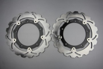 Pair of Front Wave brake discs 267mm many YAMAHA