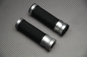 Pair of Aluminum and Rubber Handlebar Grips 22 / 24mm
