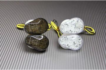 Paire de clignotants LED goutte d'eau KAWASAKI & certaines YAMAHA