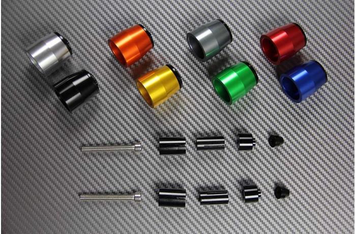 Paire d'embouts de guidon anodisés Design 2