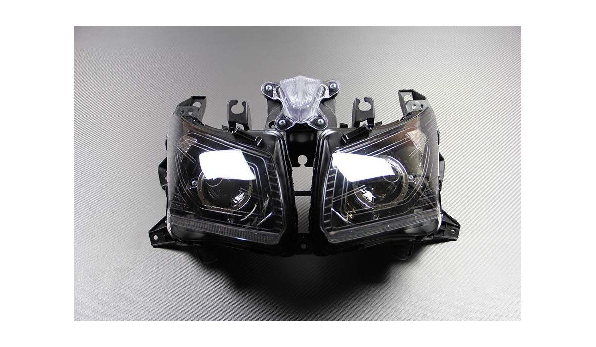 front headlight yamaha tmax 530 2012 2014. Black Bedroom Furniture Sets. Home Design Ideas
