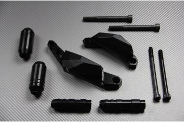 Tampons / Roulettes de protection YAMAHA MT07 2014 / 2020 , Tracer MT-07 et  XSR 700