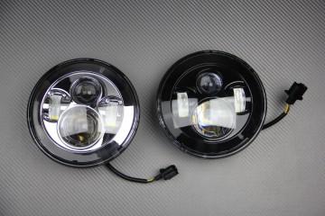 LED-Scheinwerfer, rund, anpassbar