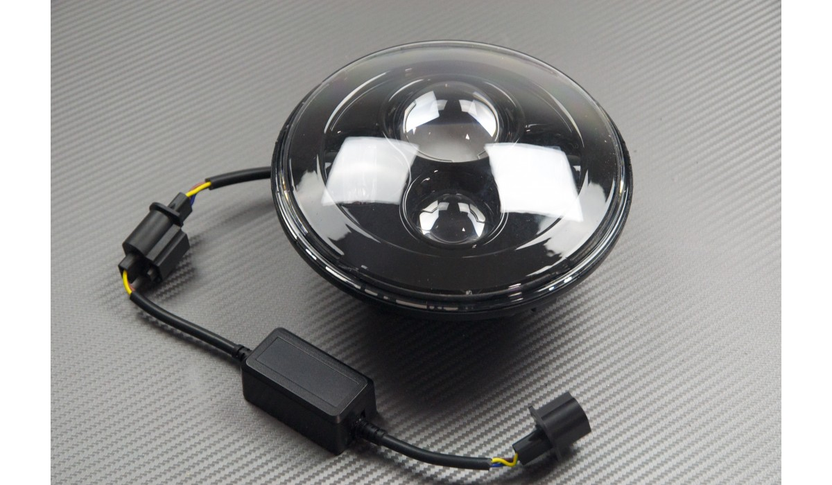 optique phare rond led adapter avdb moto l 39 accessoire prix motard. Black Bedroom Furniture Sets. Home Design Ideas