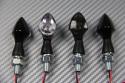 Pareja de pequeños intermitentes claros o ahumados universales 1 led