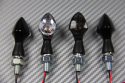 Pair of small clear or smoked universal turn signals - 1 LED