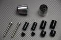 Pareja de contrapesos de manillar en aluminio anodizado diseño 2