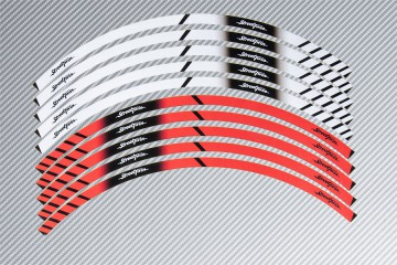 Strisce nastro adesivo racing per cerchio ruota TRIUMPH - Modello Street Twin