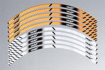 Strisce nastro adesivo racing per cerchio ruota KTM - Modello DUKE