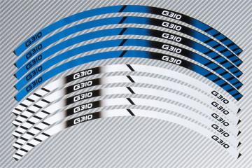 Strisce nastro adesivo racing per cerchio ruota BMW - Modello G310