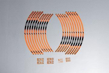 Strisce nastro adesivo racing per cerchio ruota KTM - Modello EXC