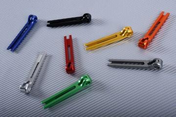 Parte extrema de aluminio anodizado para maneta extensible y abatible