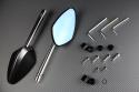 Paar Rückspiegel aus Aluminium / Kunststoff