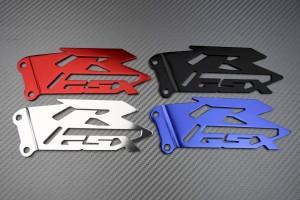 Brackets / Pair of Heel Rests SUZUKI - GSXR Logo