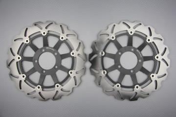 Par de discos wave delantero 320mm muchas Ducati
