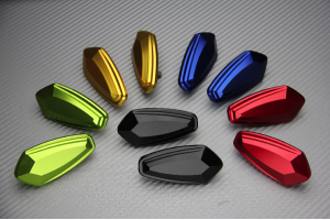 Anodised Aluminum Rearview Mirrors Block Off Plates Numerous YAMAHA KAWASAKI SUZUKI