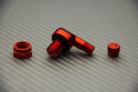 Pair of Anodised Aluminum Angled Valve Stems 11.3 mm