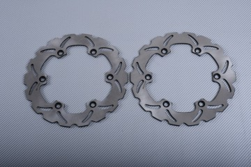 Pair of Front Wave brake discs 260 mm many KAWASAKI