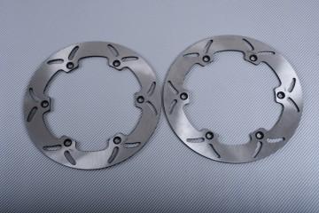 Pair of Front Solid brake discs 296 mm HONDA