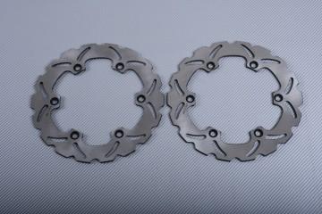 Pair of Front Wave brake discs 270 mm many KAWASAKI