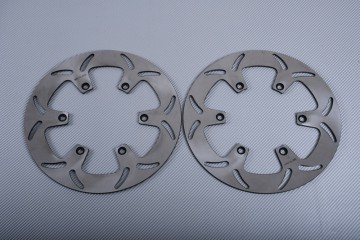 Pair of Front Solid brake discs 298mm many YAMAHA