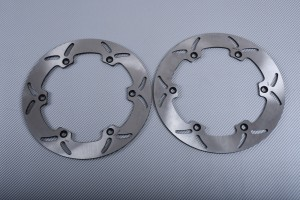 Pair of Front Solid brake discs 320mm many YAMAHA