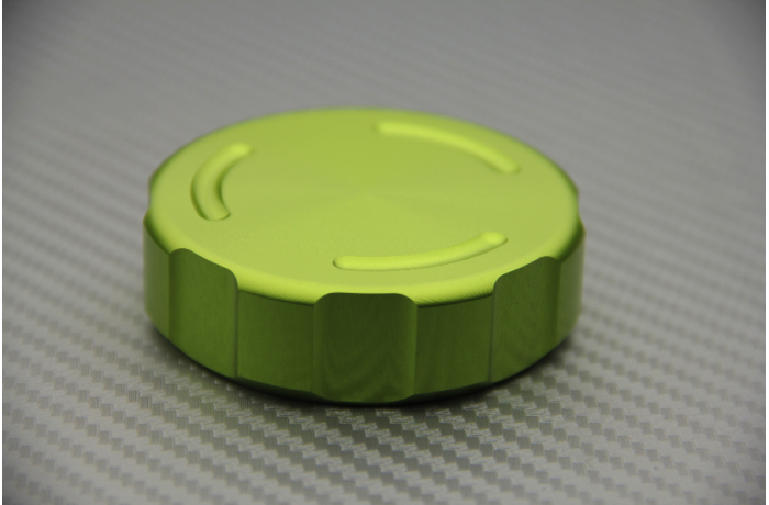 Anodised Front or Rear Brake Fluid Reservoir Cap for Many Motorcycle Models