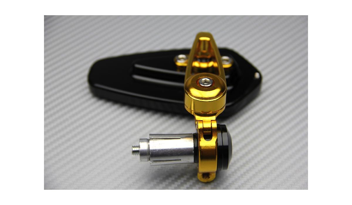 Pair Of Bar Ends Mirrors Avdb Moto L Accessoire 192 Prix