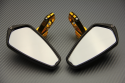 Coppia di retrovisori per estremità manubrio con braccio inclinabile