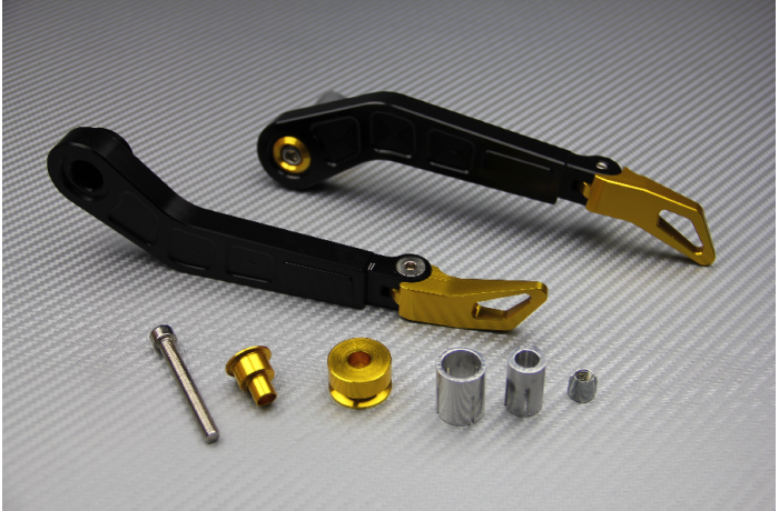 Paire de protections de leviers en aluminium