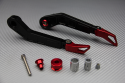 Pair of brake and clutch levers guards in anodised aluminum